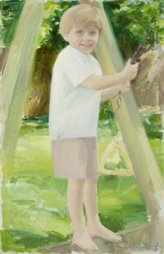Cannon Sherman, Age 5, Oil