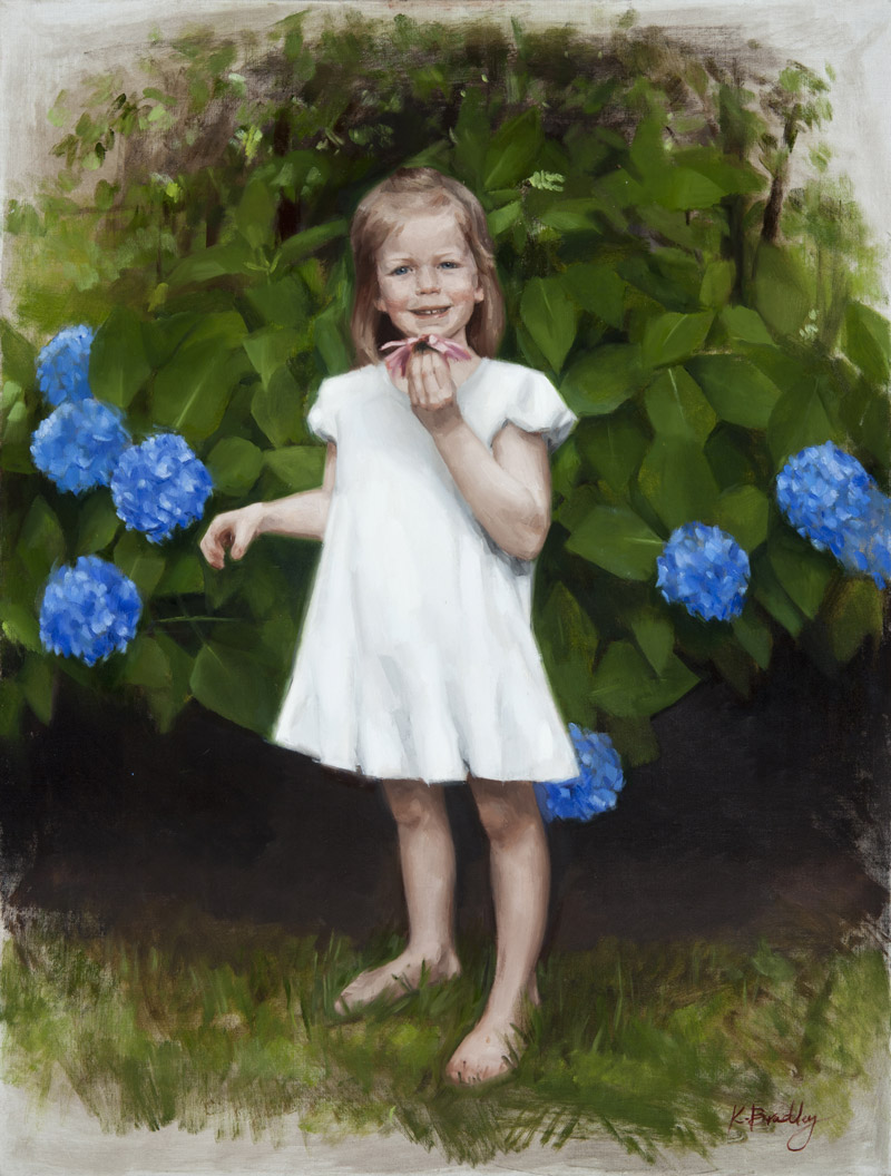 Nellie Keras, Age 3, oil