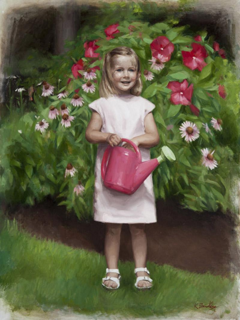 Jane Keras, Age 3, oil