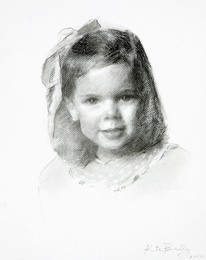 Whitney Bricken, Age 2, Charcoal
