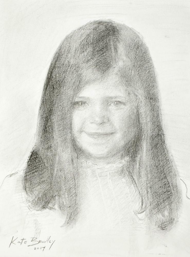 Gracie, Age 5, Charcoal
