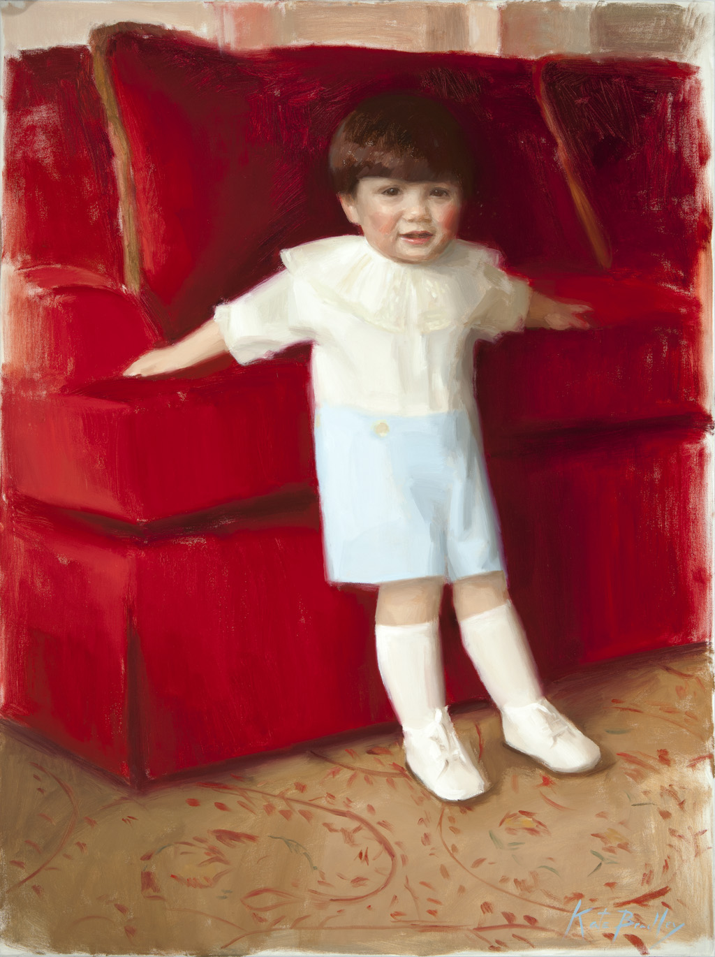 Henry Martin, Age 3, Oil on canvas