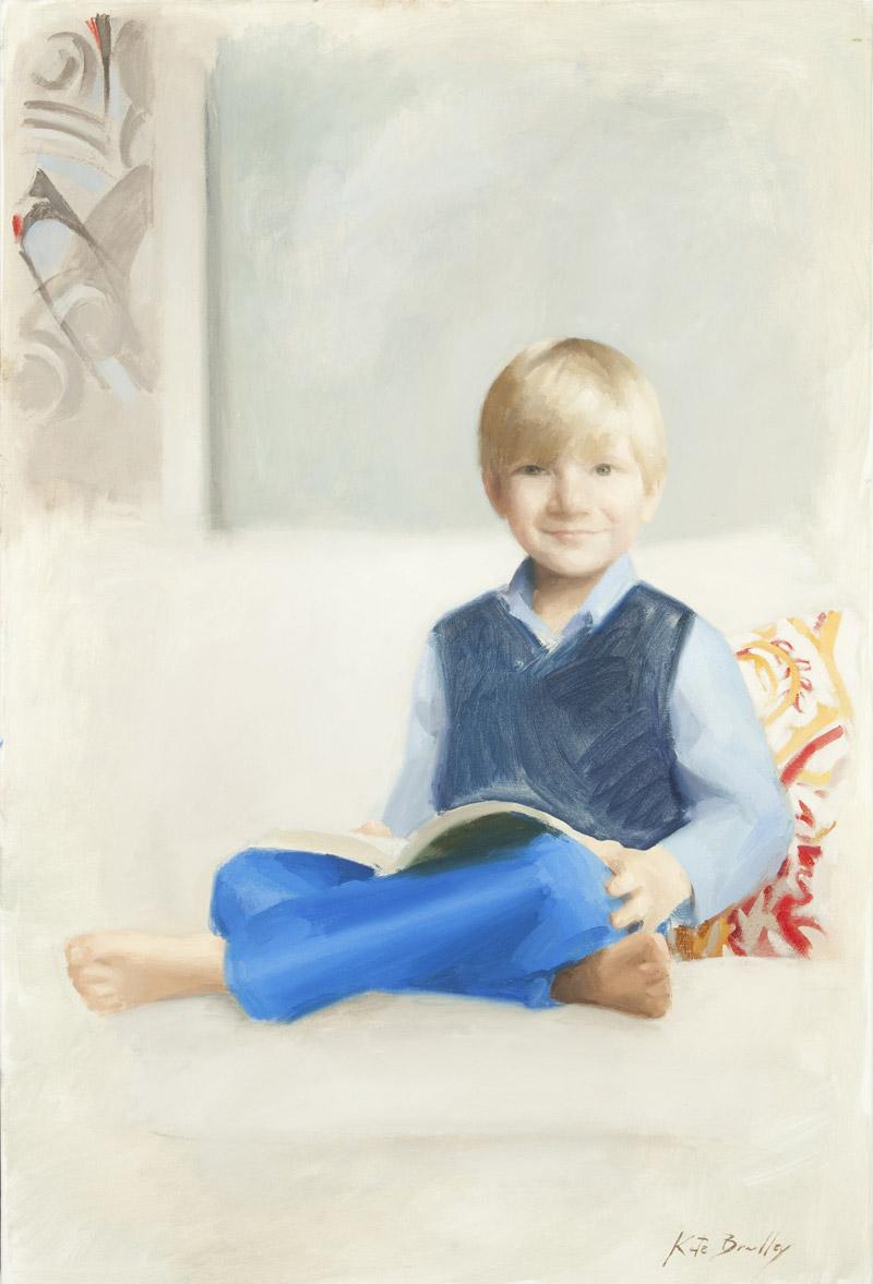 Henry Bush, Age 6, Oil on canvas