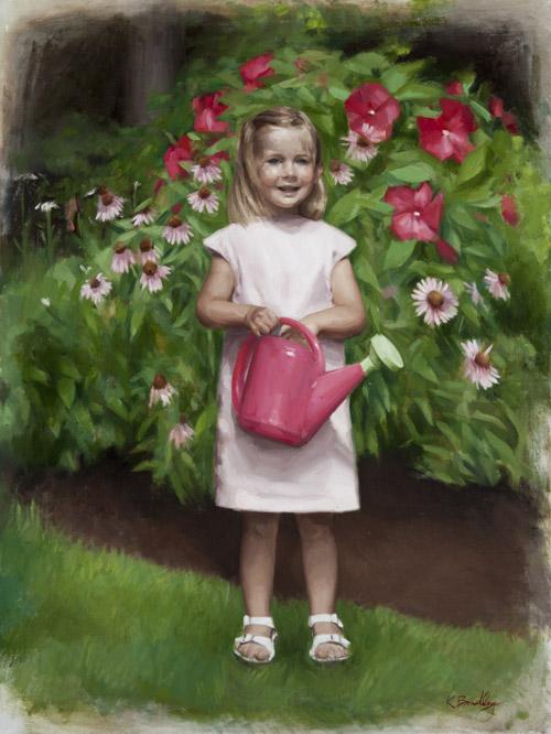 Jane, Age 3, Oil