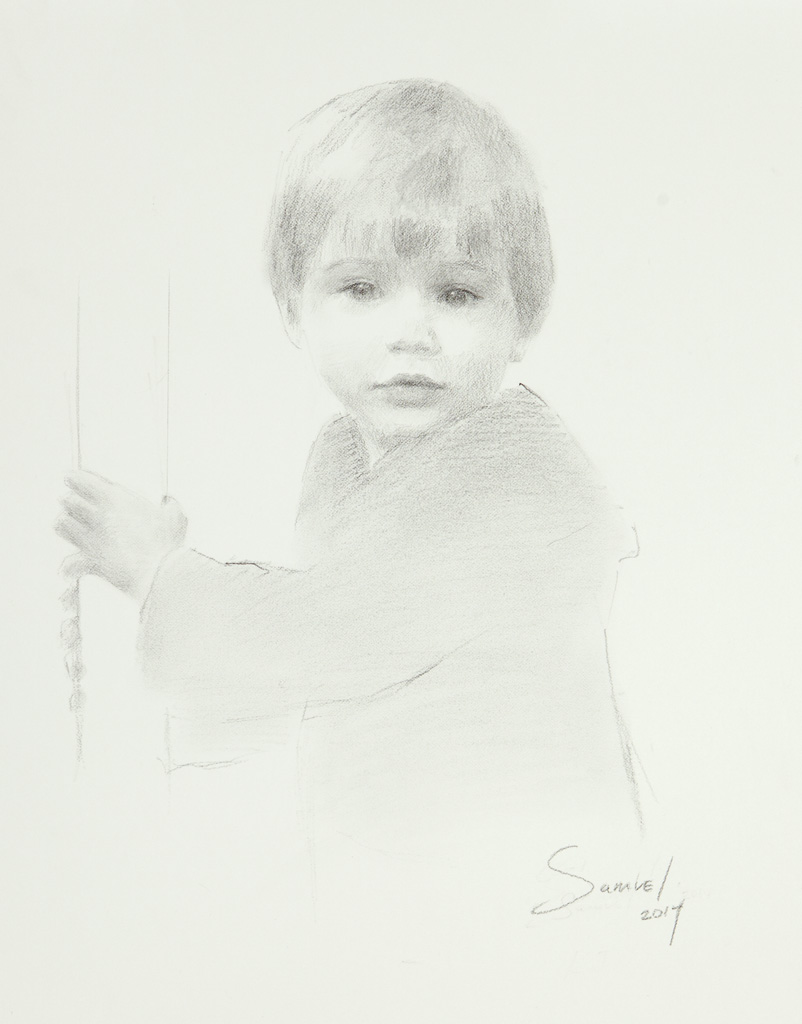 Sam Peterman, Age 2 1/2, Charcoal, Memphis, TN