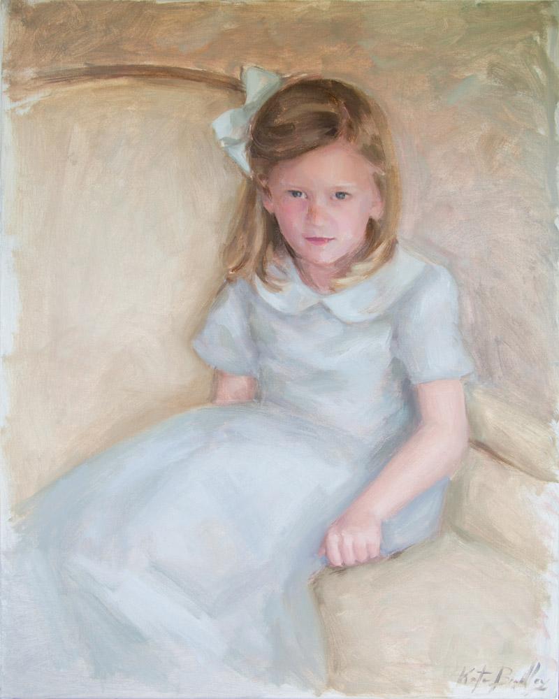 Anna Jane Johnson, Age 4, Oil on canvas