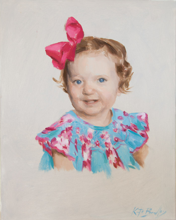 Emmie Grant, Age 1, Oil on canvas