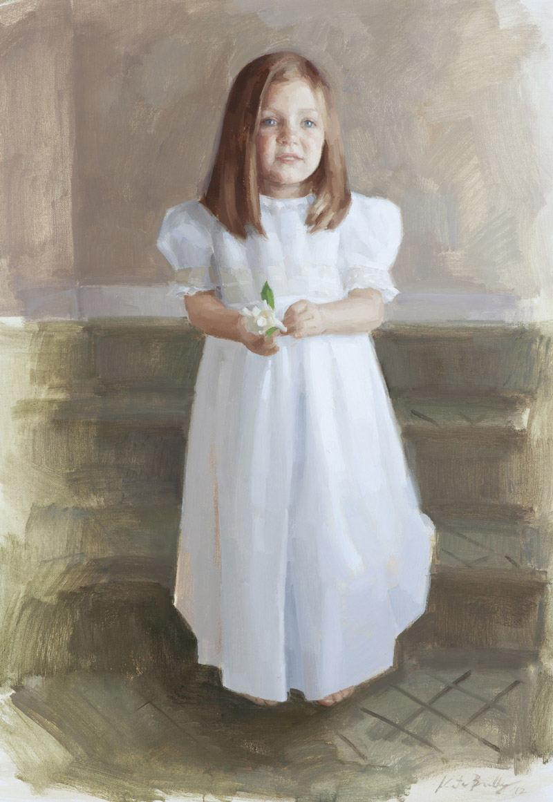 Francis Martin, Age 5, Oil on canvas