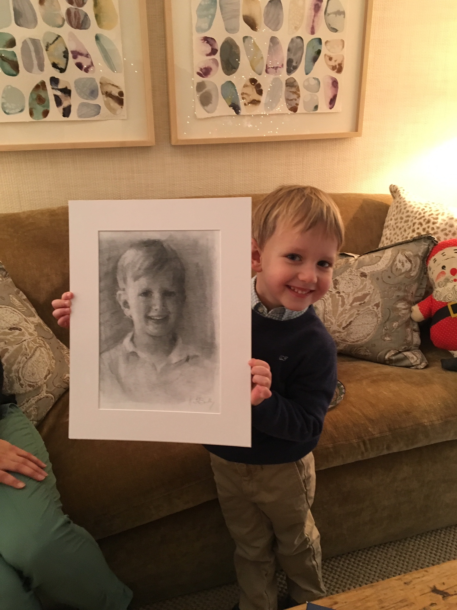 James Dorman, age 5, charcoal on paper