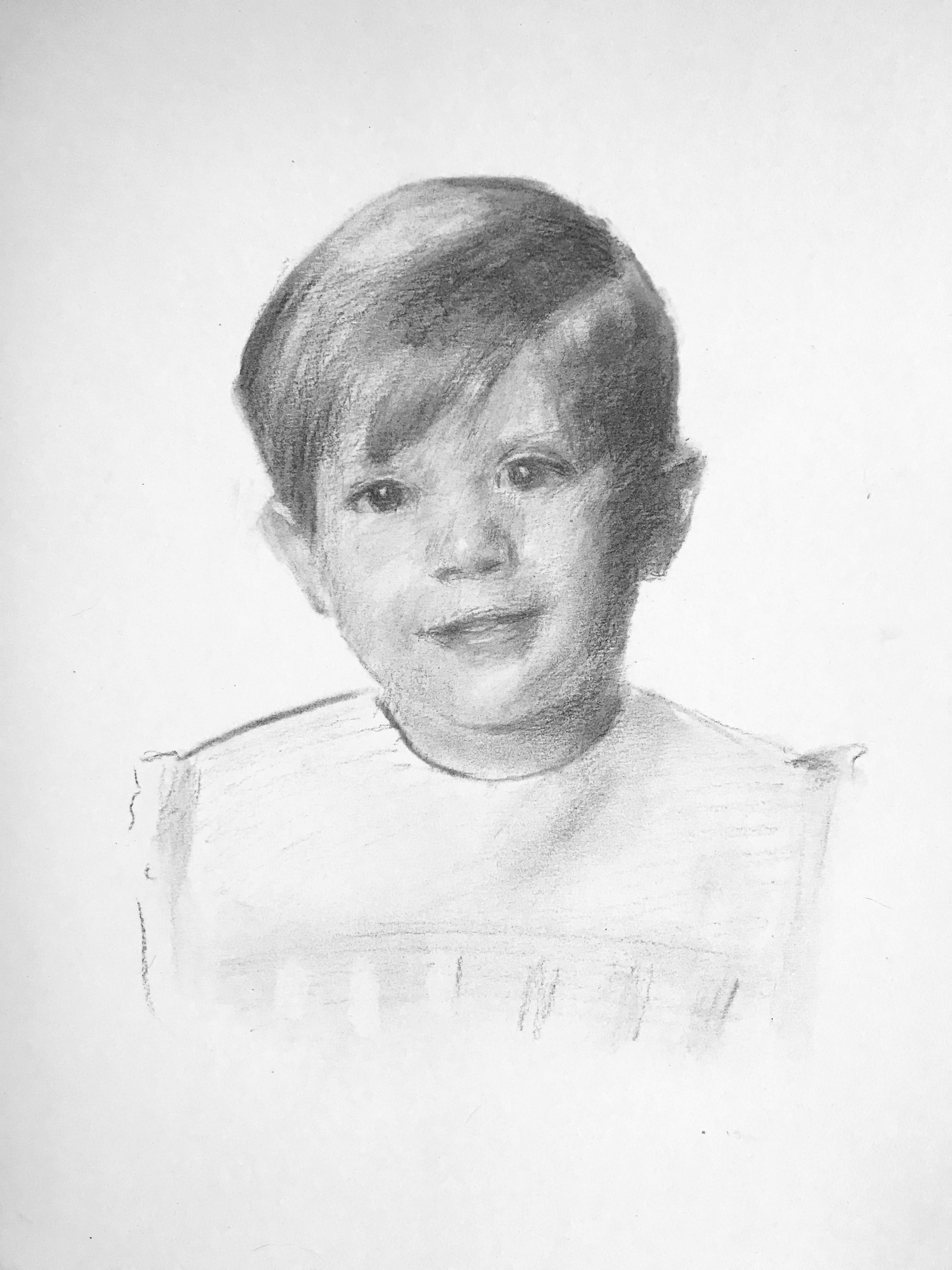 William, Age 3, Charcoal on Paper, Madison, Mississippi