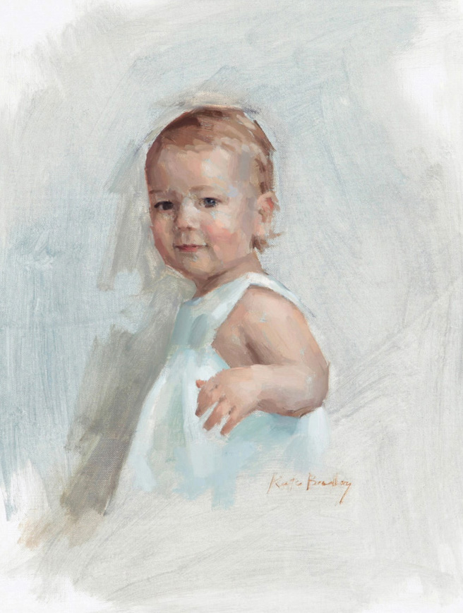 Callie Sanders, Age 1, Oil on canvas