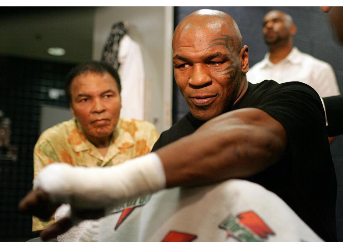 Muhammad Ali and Mike Tyson