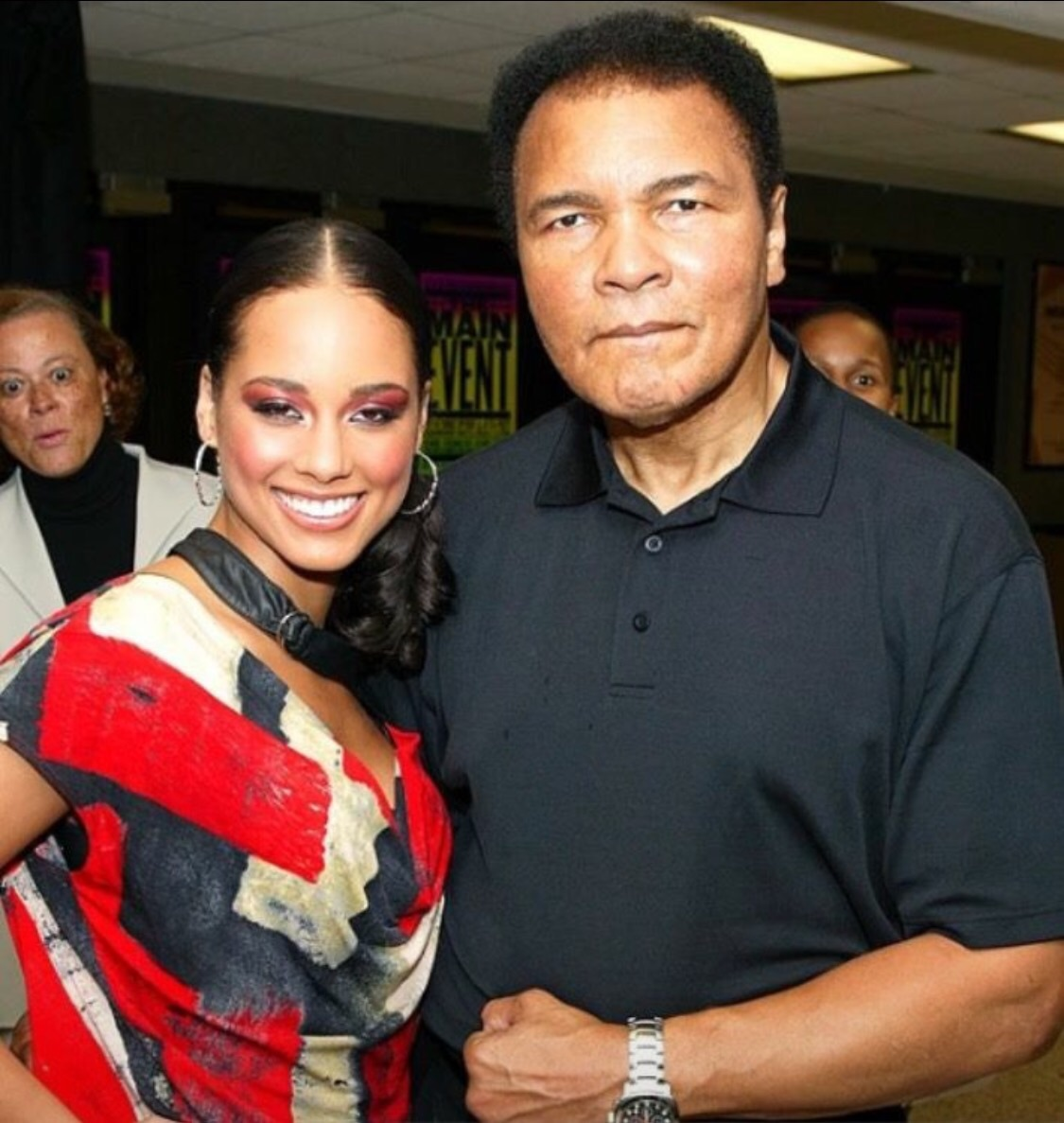 Alicia Keys shares this on her social media posing with the Greatest Champ.