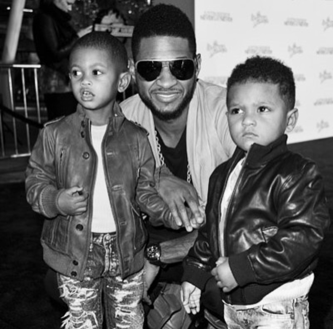 Usher with his Boys
