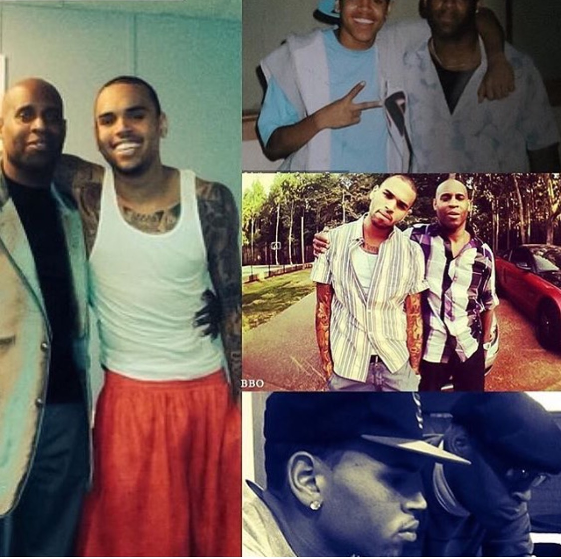 Chris Brown with dad