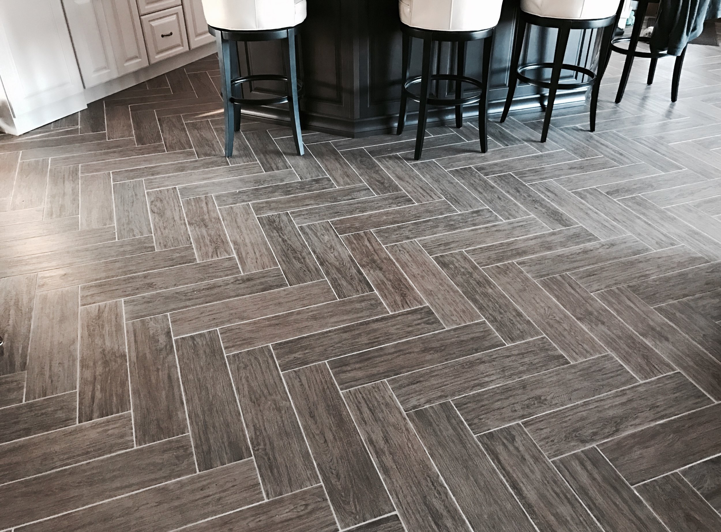 Herringbone Tile Floor