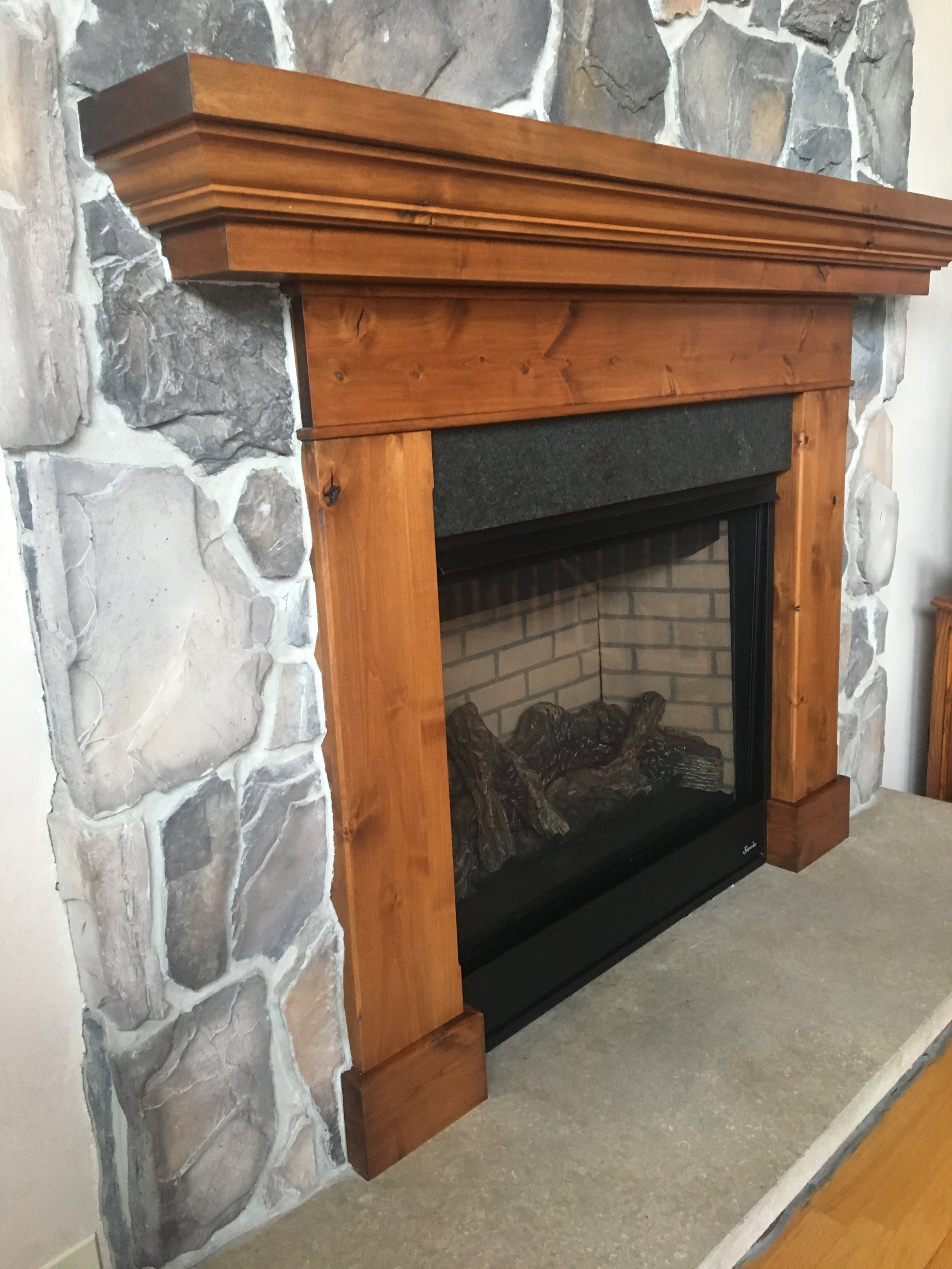 Fireplace Surround and Mantel Detail