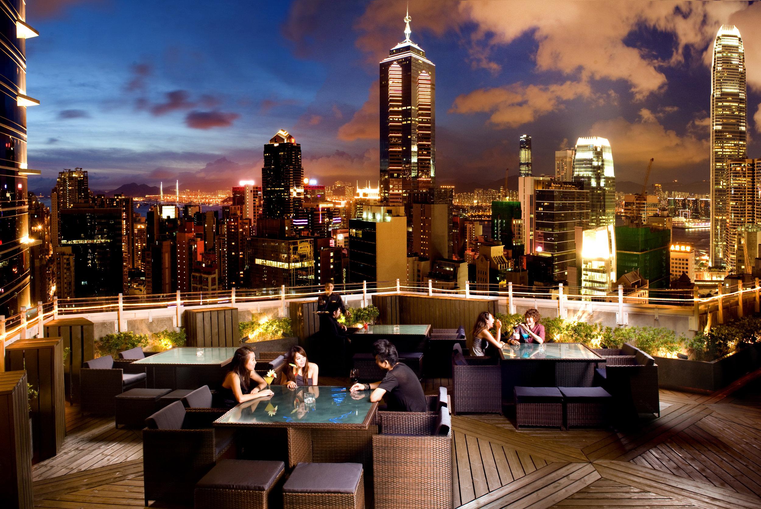 Hotel-LKF by Rhombus Azure-Restaurant-Rooftop-Hong Kong