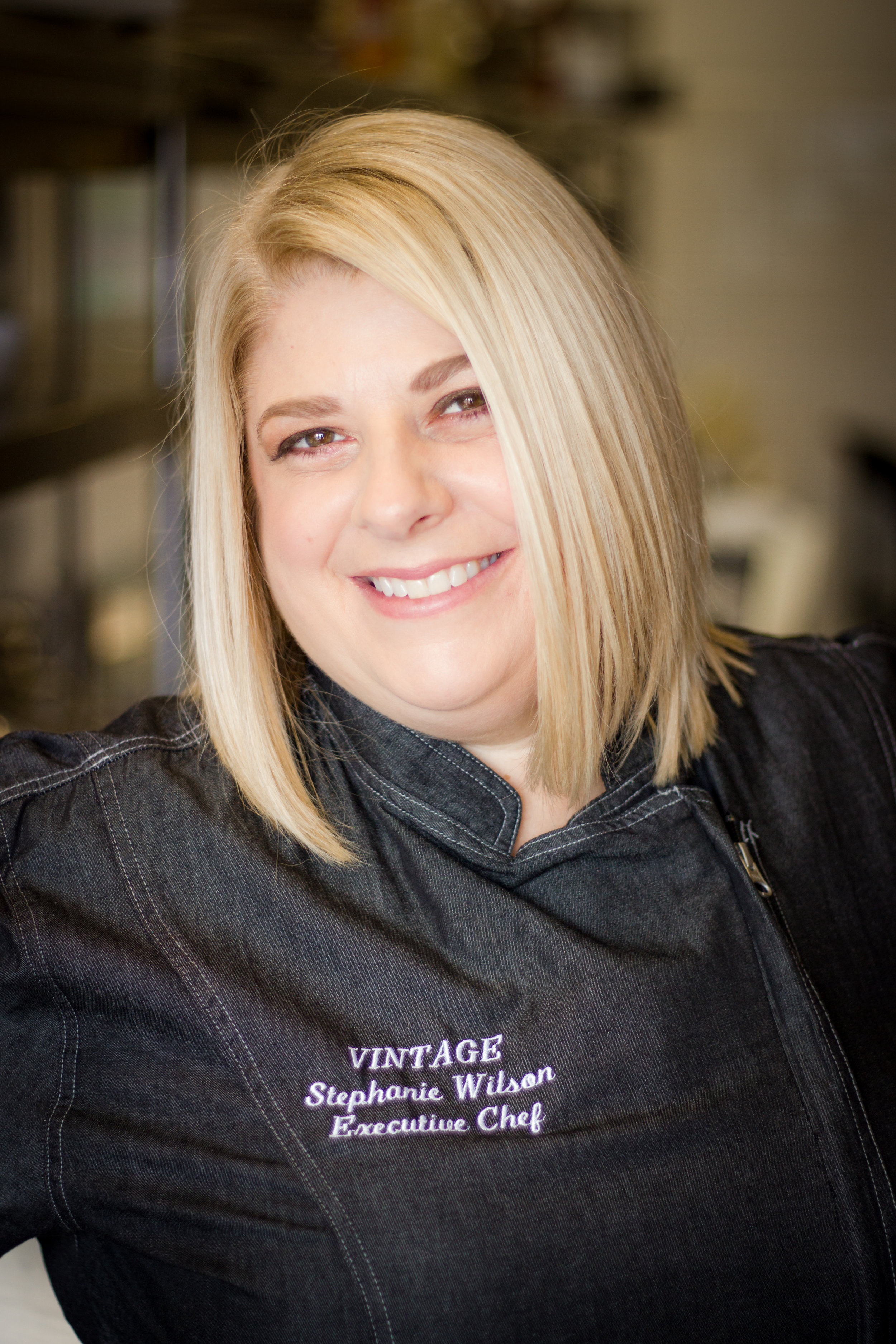 Executive Chef Stephanie WILSONComing from a background of education:She has a B.A. in Anthropology from the University of Maryland, as well as extended education from L'Aaemie de Cusine. She has a longimpressive resume. -