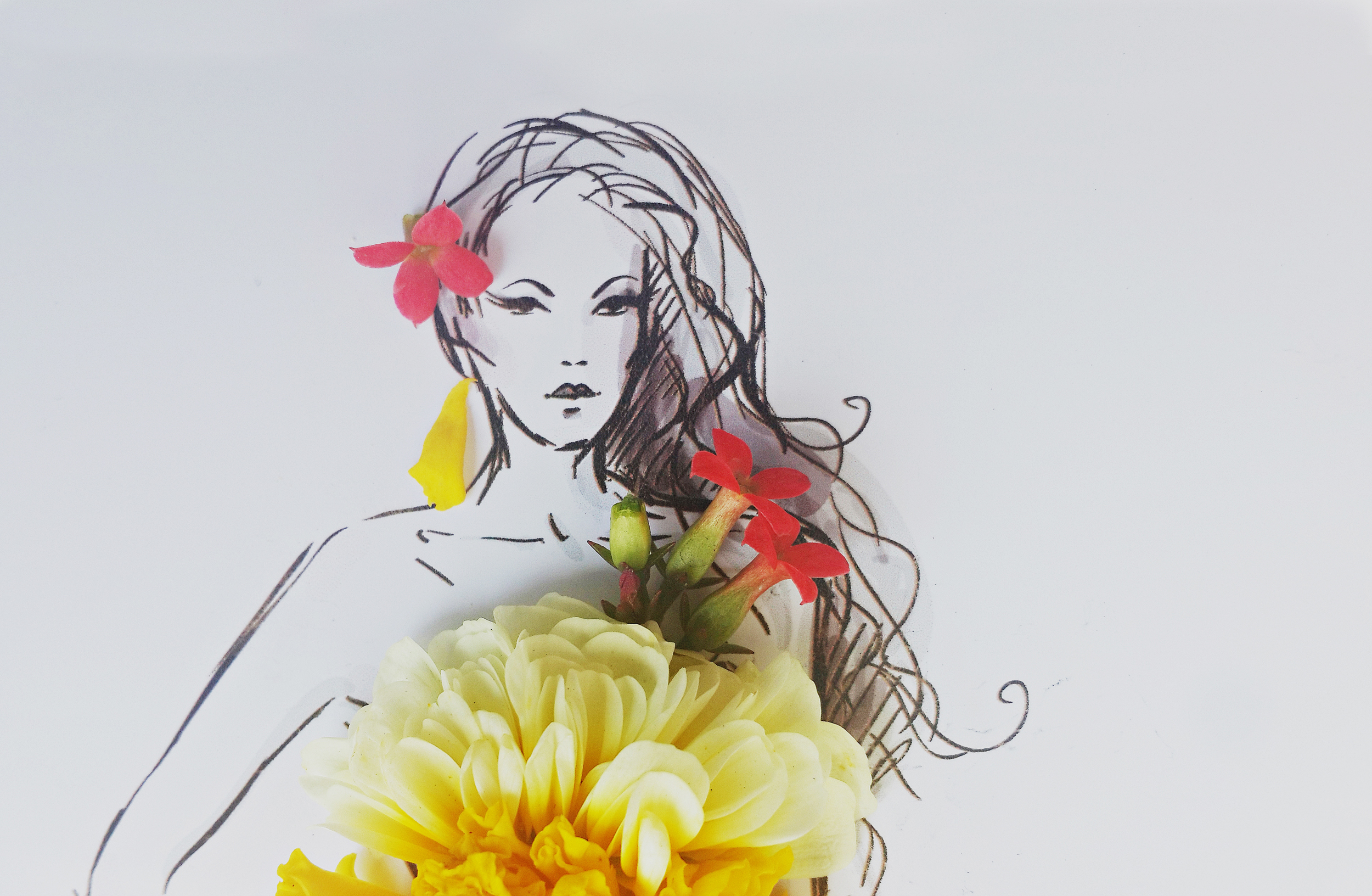 Flower Fashion Art    FROM GARDEN TO FASHION   Monika Bhalotia India