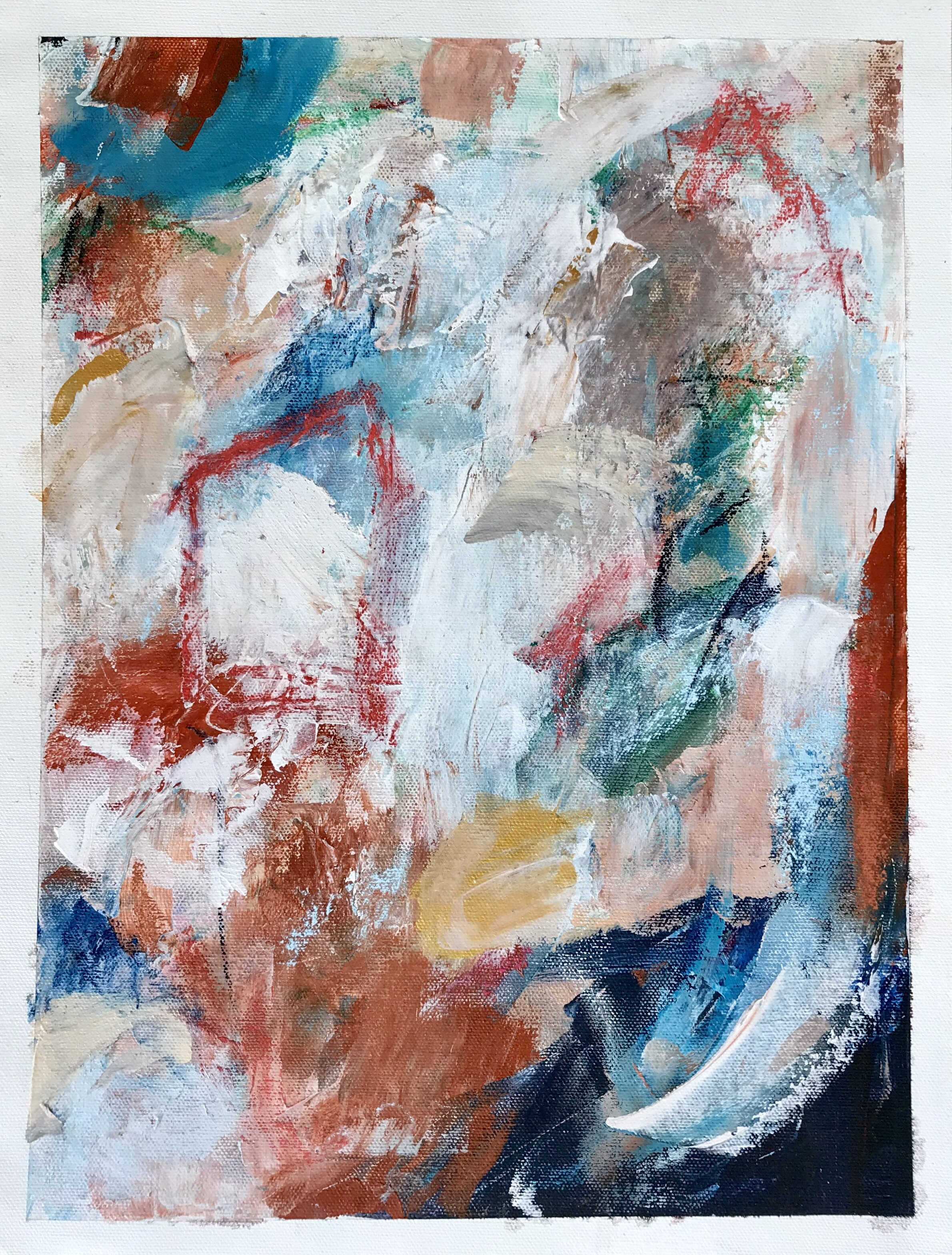 abstract expressionist paintings - inspired by places seen and unseen