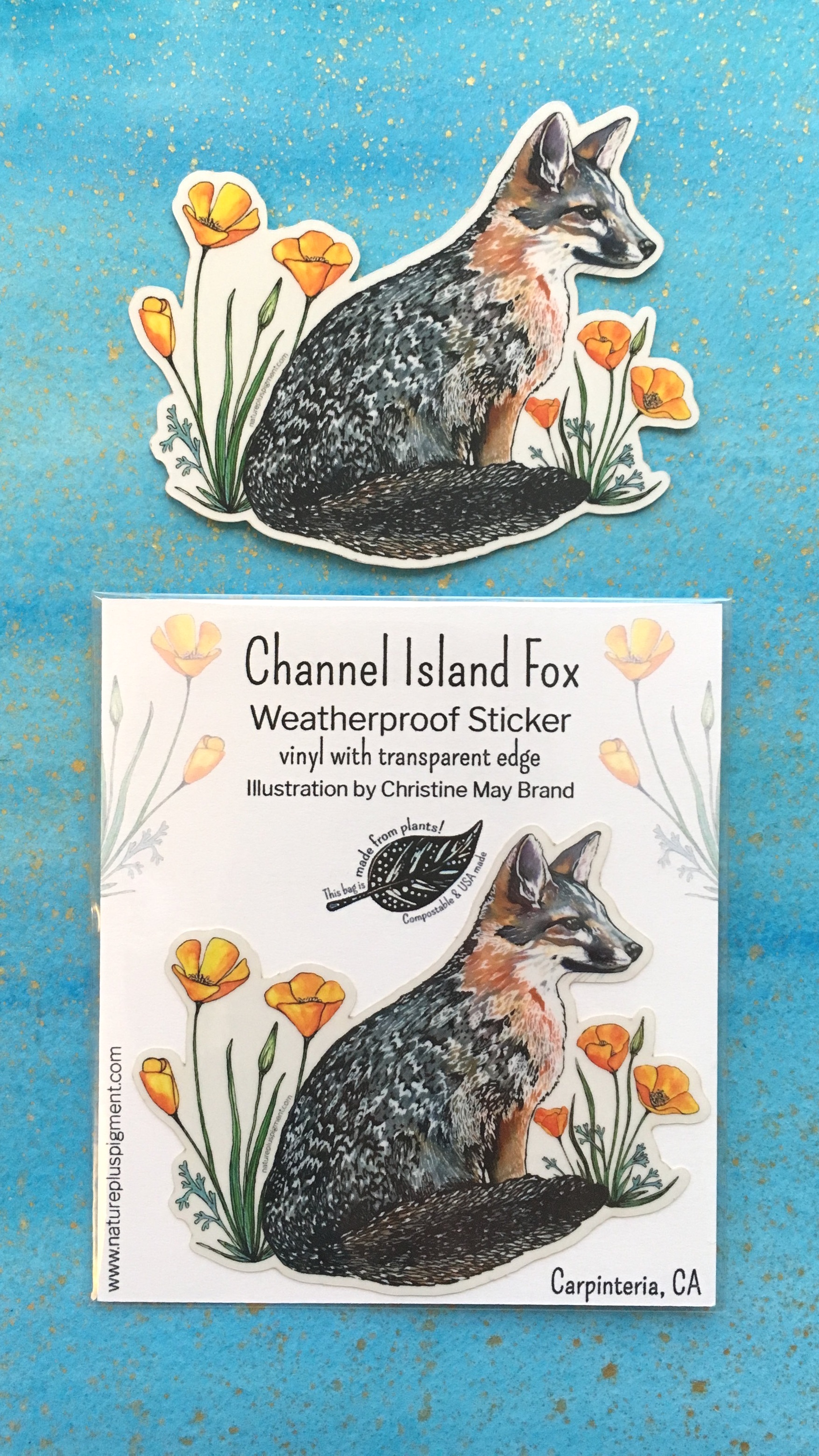example packaging - Every sticker has its own matching description card & clear eco-friendly sleeve. This protects the sticker for display purposes and allows for easy price placement on the back. Please let me know if you'd like to see more examples or would like a sample!