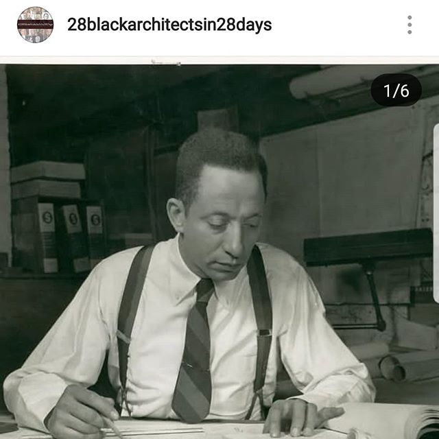 Follow @28blackarchitectsin28days to learn about Hilyard Robinson!  #28BlackArchitectsIn28Days  #BlackArchitects  #BlackHistory  #Architecture