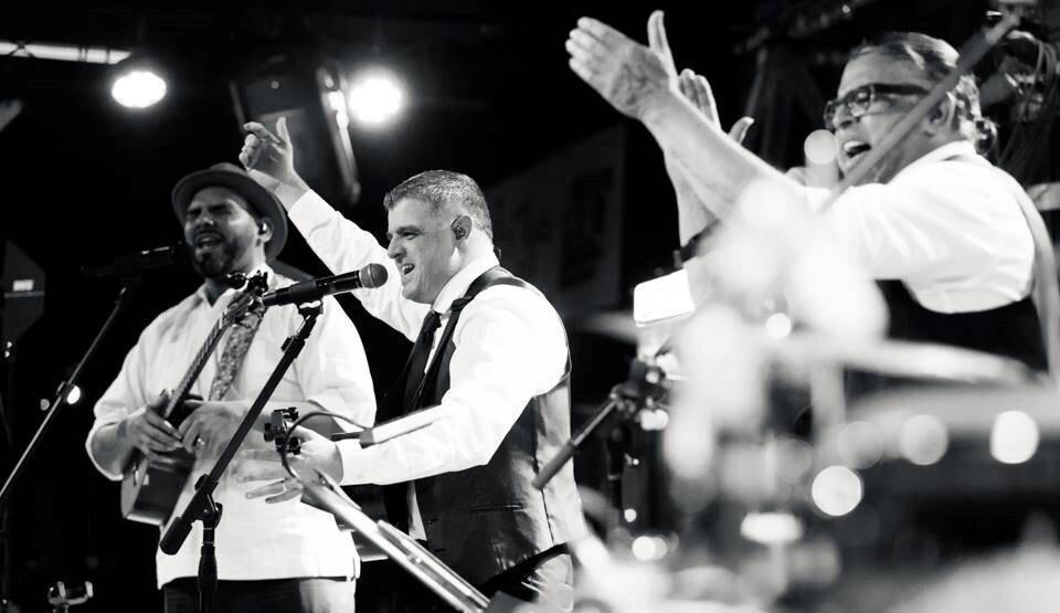 C4 Trío y Luis Enrique en concierto en Guataca Nights Houston (2019). Foto: Archivo Guataca