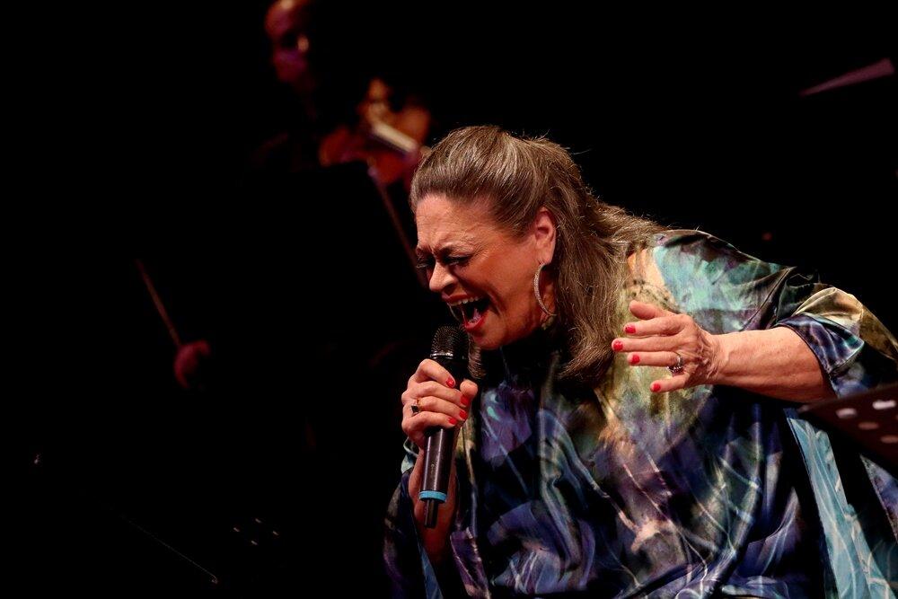 La artista en el espectáculo Aquiles Machado y Sadel: Los tenores favoritos de Venezuela. Foto: Archivo Guataca