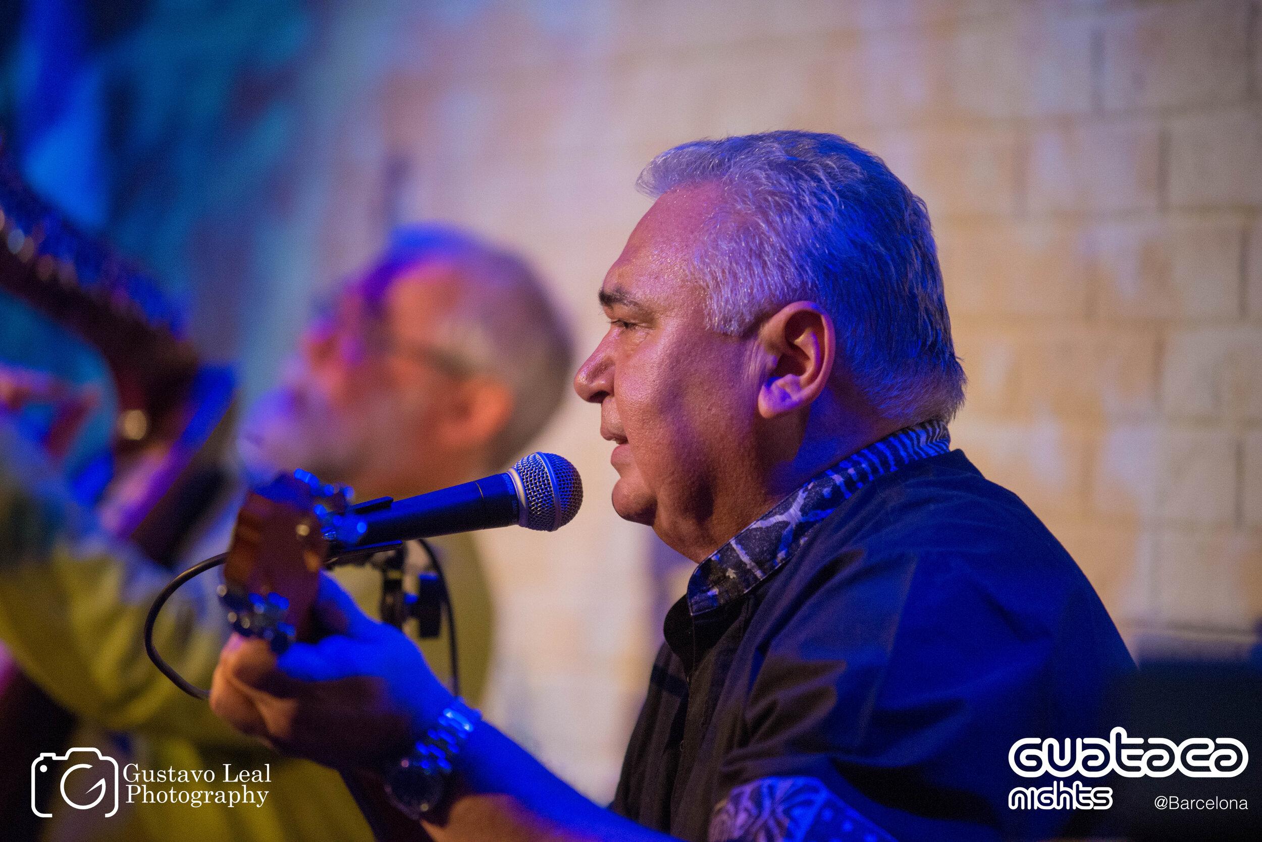 Hurtado en el concierto que Ensamble Gurrufío brindó en Guataca Nights Barcelona (2018). Foto: Archivo Guataca