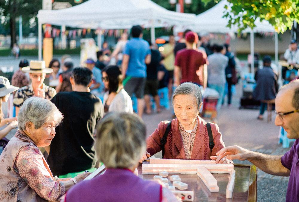 Chinatown Mahjong Social Youth Collaborative For Chinatown ɝ'心在唐人街