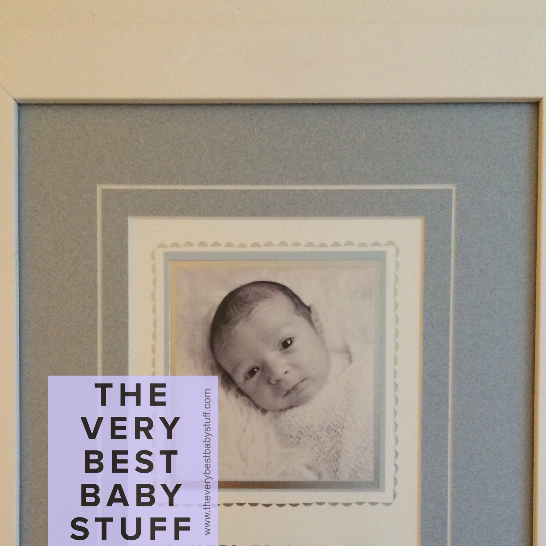 This is S's framed birth announcement. I cut off his name and other info that appeared at the bottom for privacy reasons.