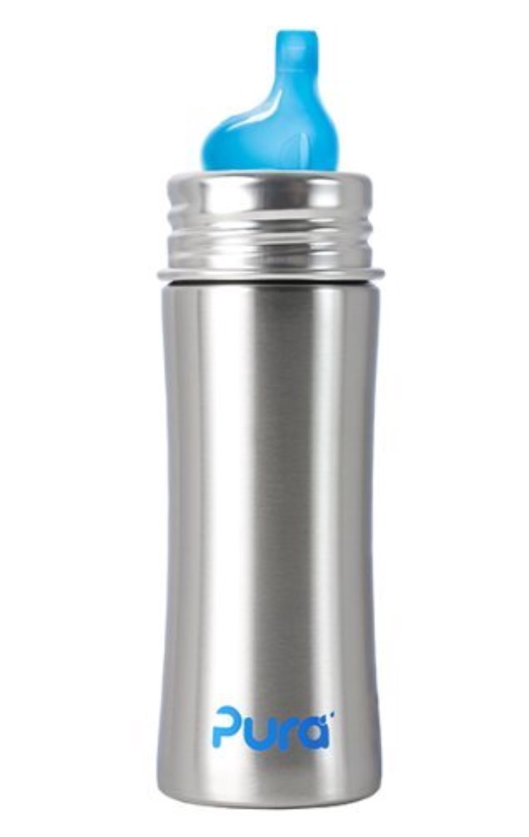 Pura Kiki Stainless Steel Sippy Cup, 11 ounce