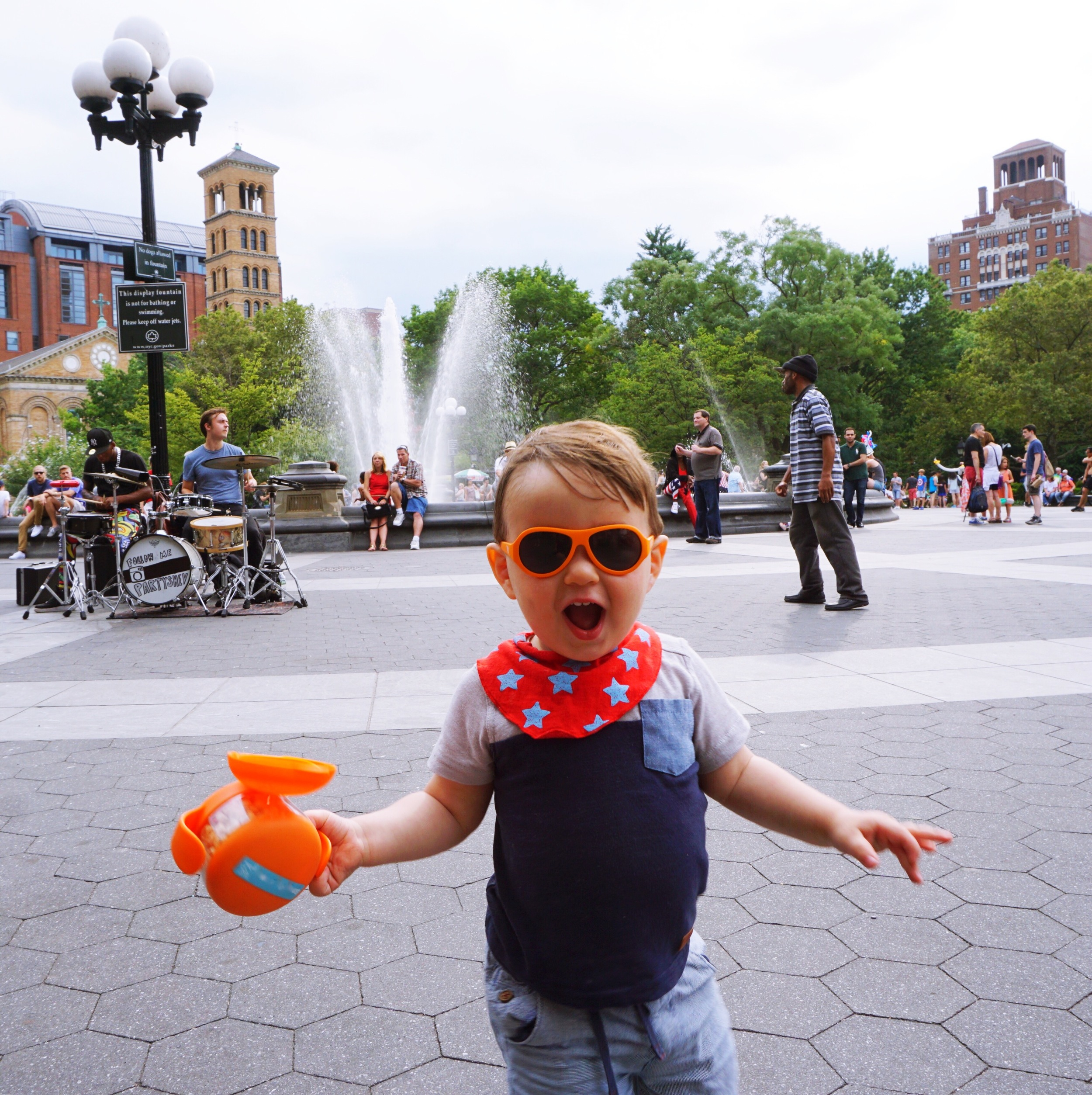 Washington Square Park with Orange Tweet II