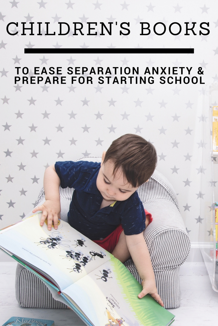 Great list of children's books to ease separation anxiety and prepare for back to school / starting school (daycare, preschool, pre-k, nursery, kindergarten, first grade)