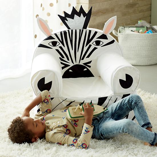 Land of Nod Zebra Chair (front)