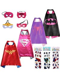 Superhero Dress Up Costumes Capes and Masks for Girls