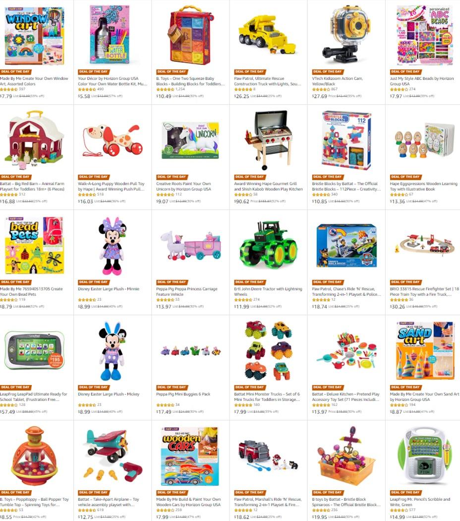 Lots of toys on deal -- BRIO, HAPE, Peppa Pig, Paw Patrol