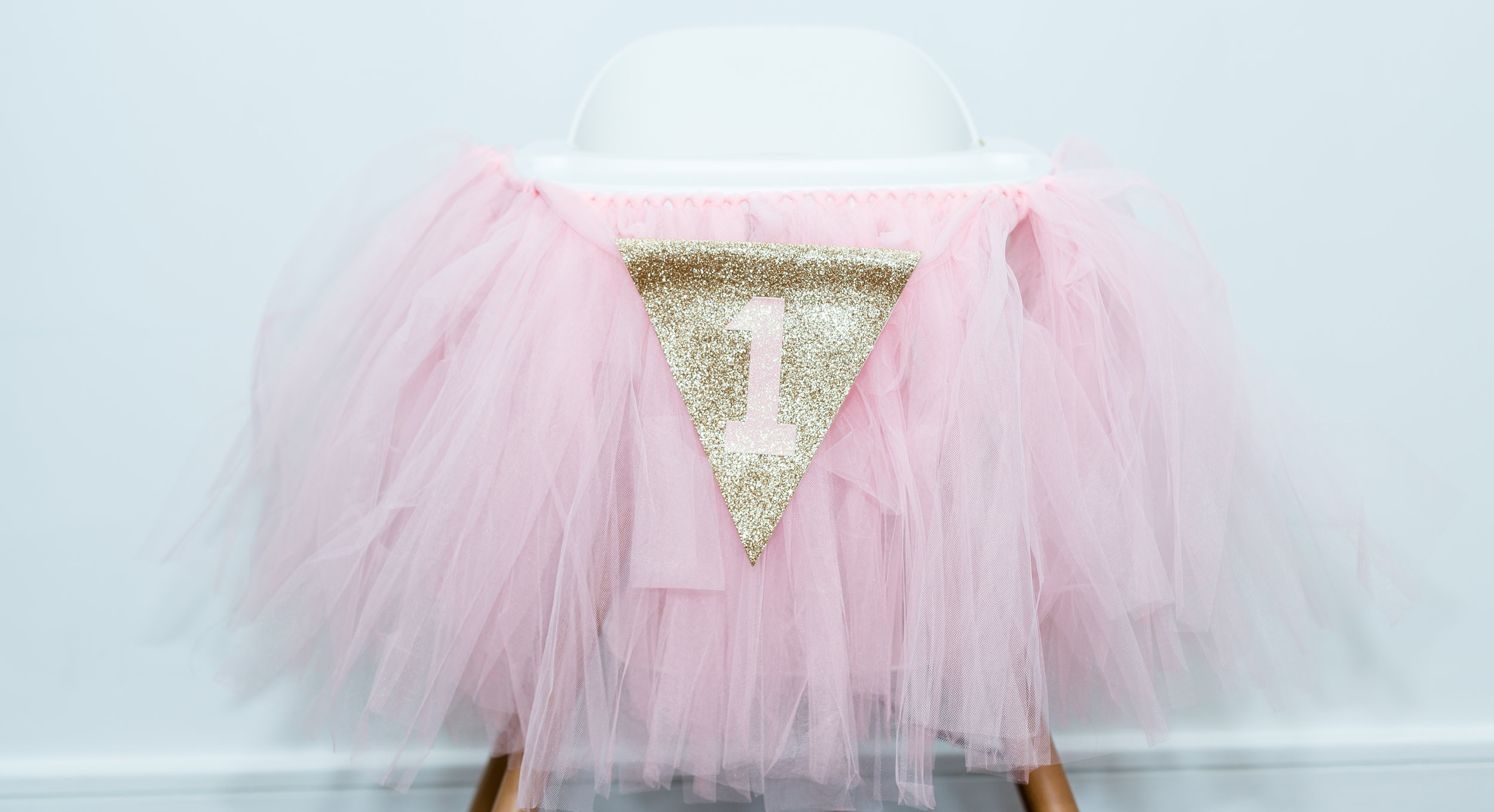 high chair tutu first birthday