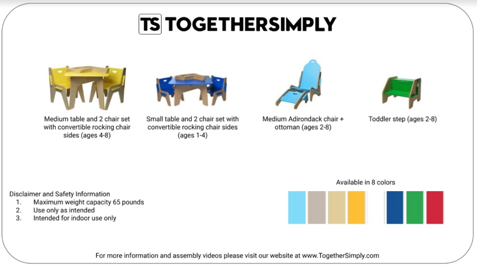 together simply product information