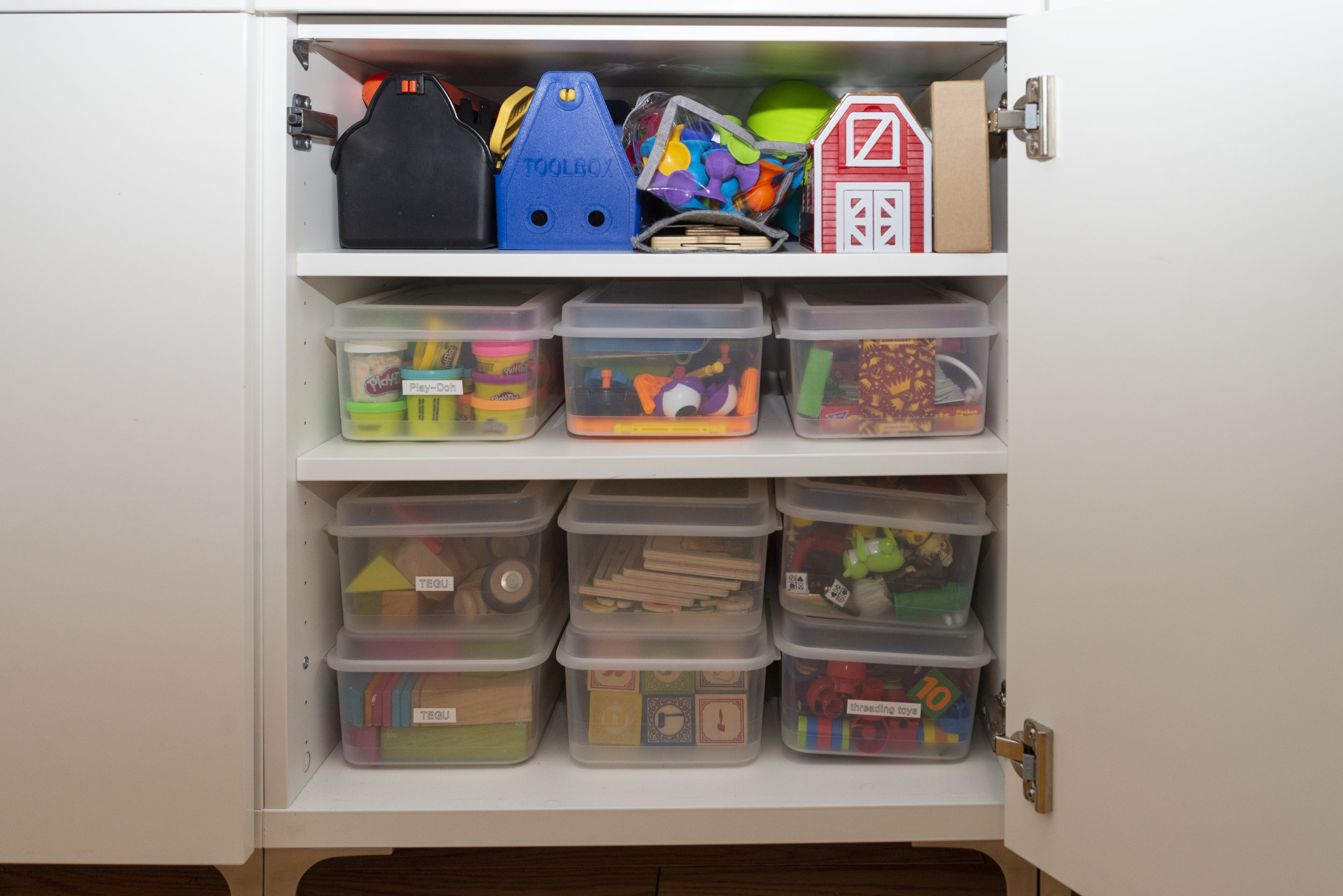 Our fave plastic toy bins