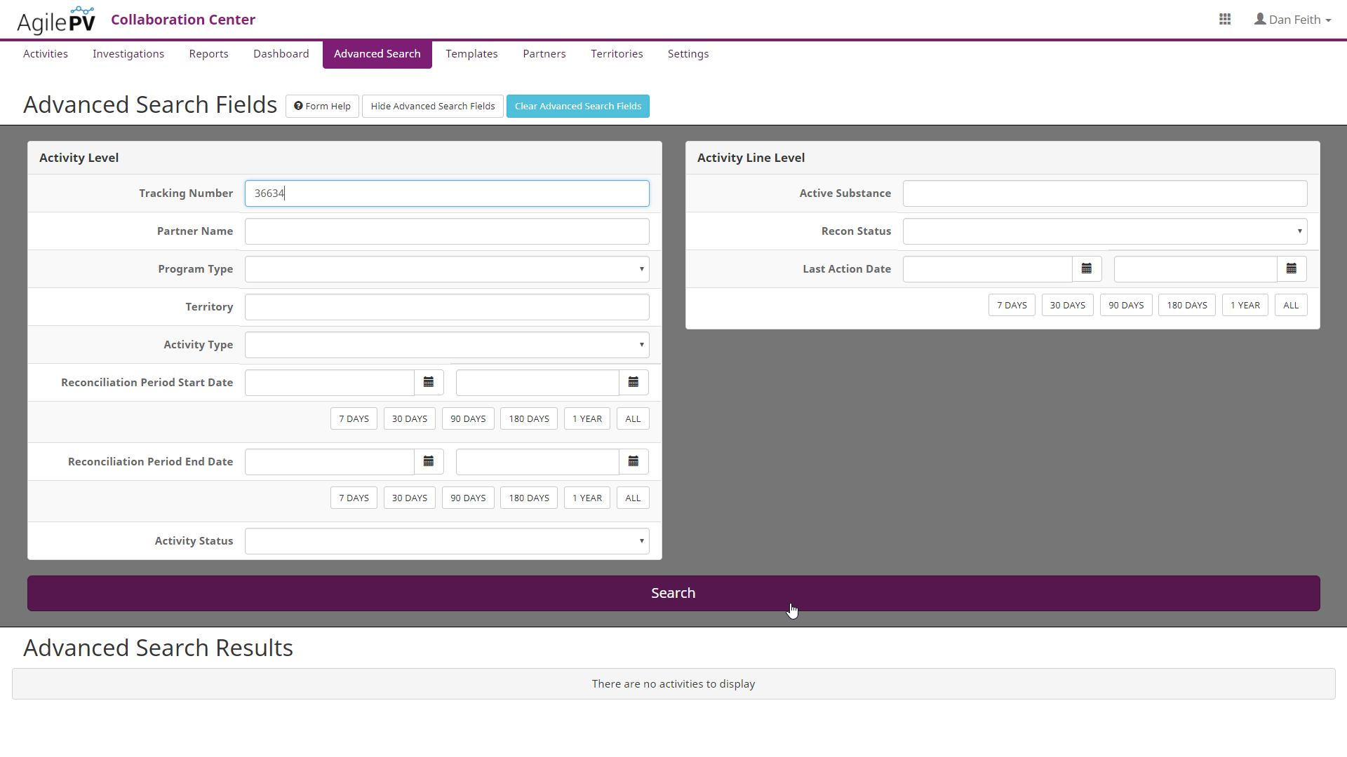 Search for data reconciliation activities around all of your partners, across territories, or active substances.
