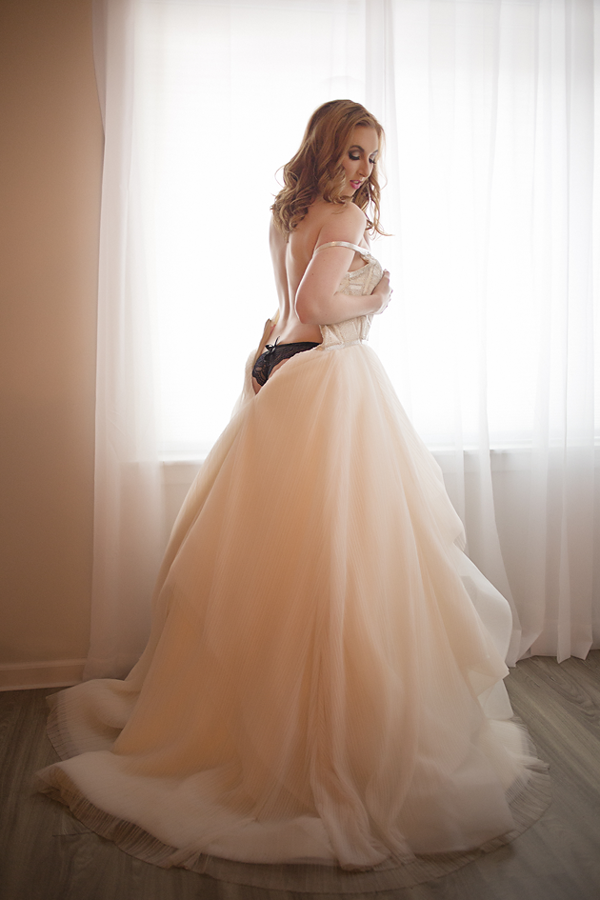 Bridal boudoir photography; bring in your wedding dress for a Remember the Dress® Shoot! Only at Long Island Boudoir Photography