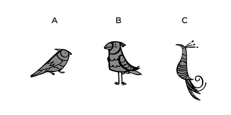 "Sketches of ""Birdie"""