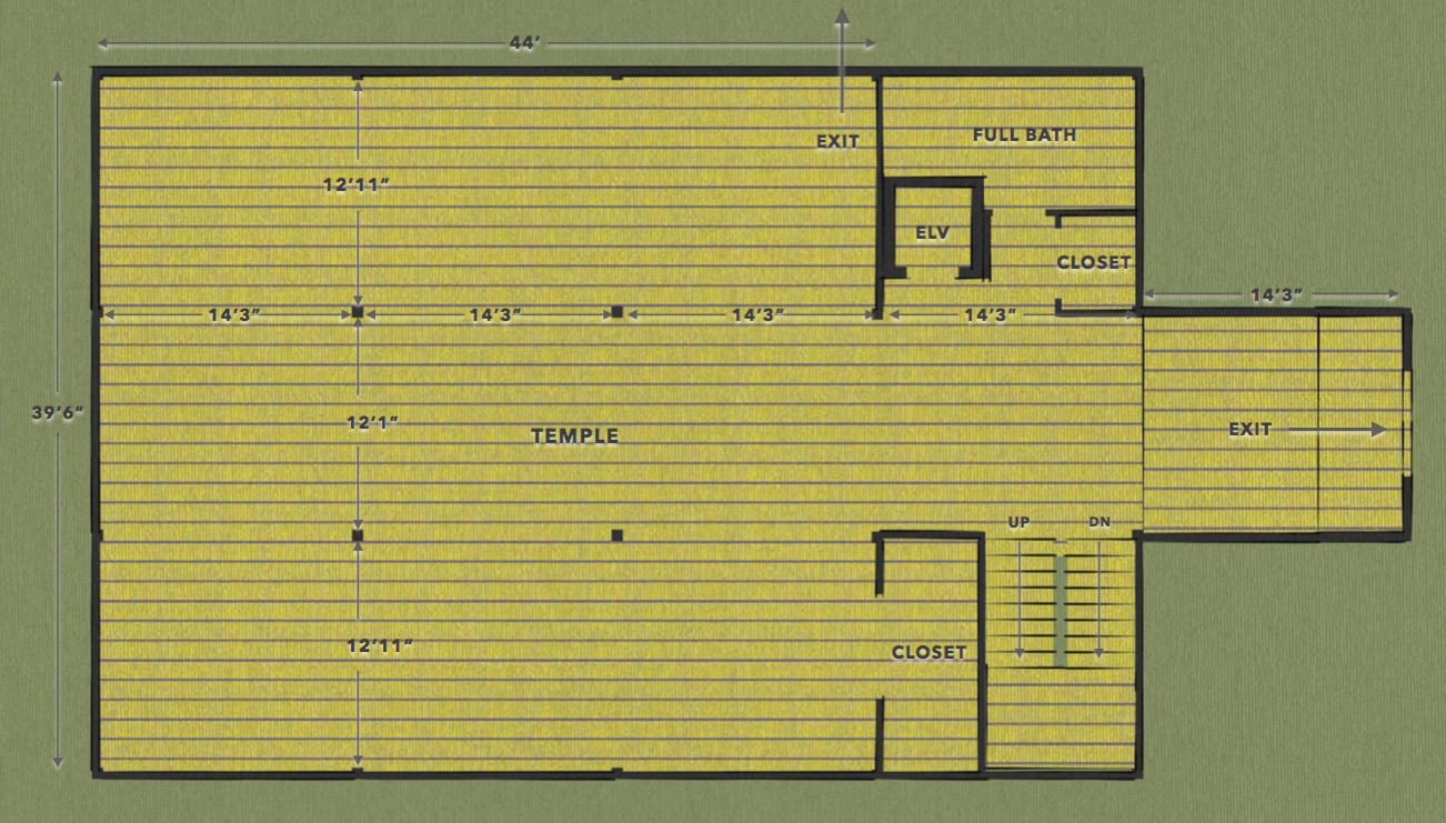 Existing Temple Plan