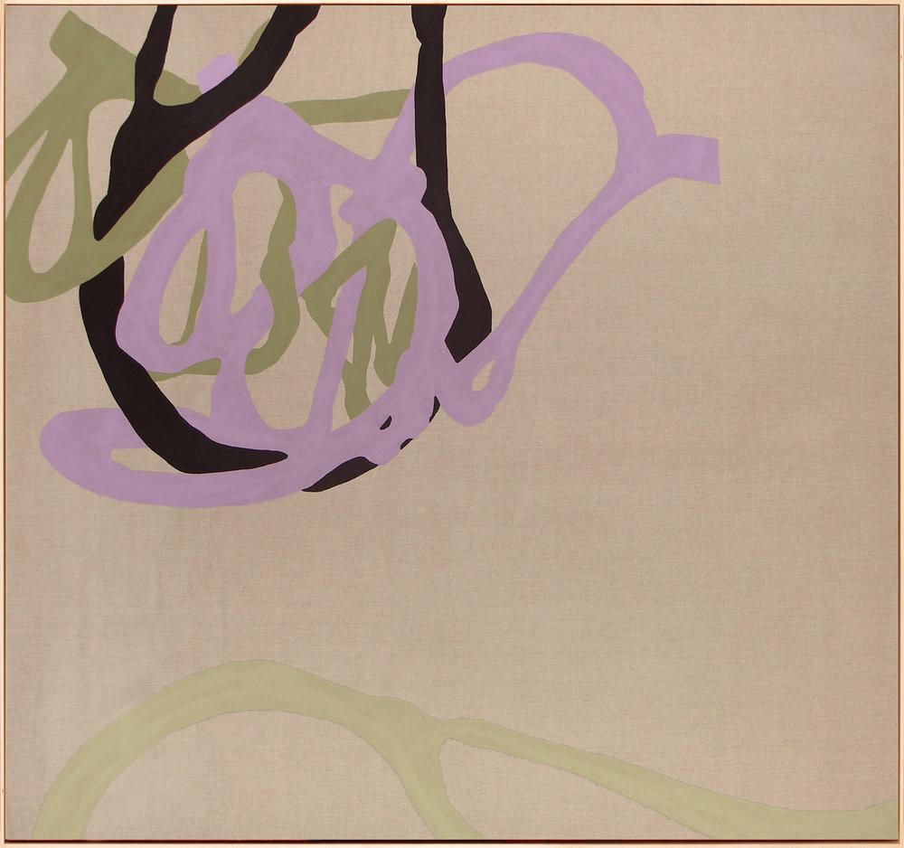 Drift  2008 Pigments on Linen Maple Floater Frame 67 x 73 in 170.2 x 185.4 cm