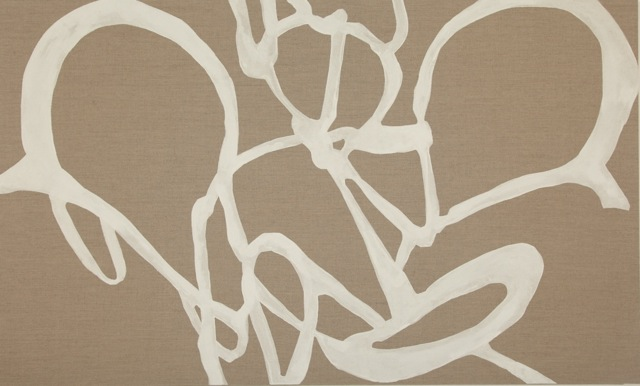 Aurum   2013 Natural pigments on raw linen 36 x 60 inches