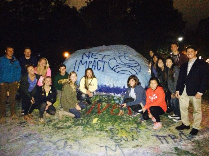 Our new team sets out to paint the rock!