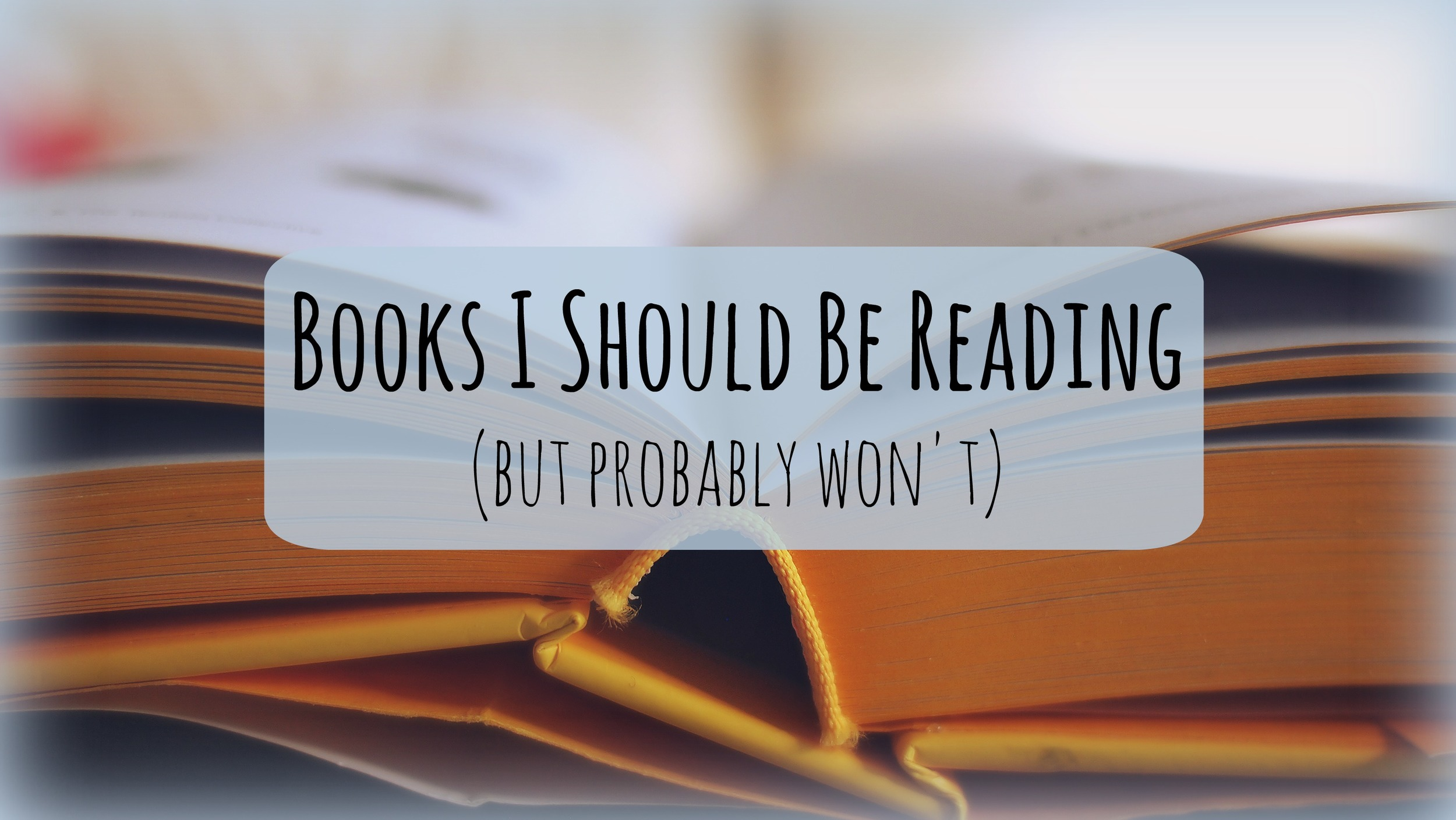 Books I Should Read (but probably never will) | Scribbling in the Margins