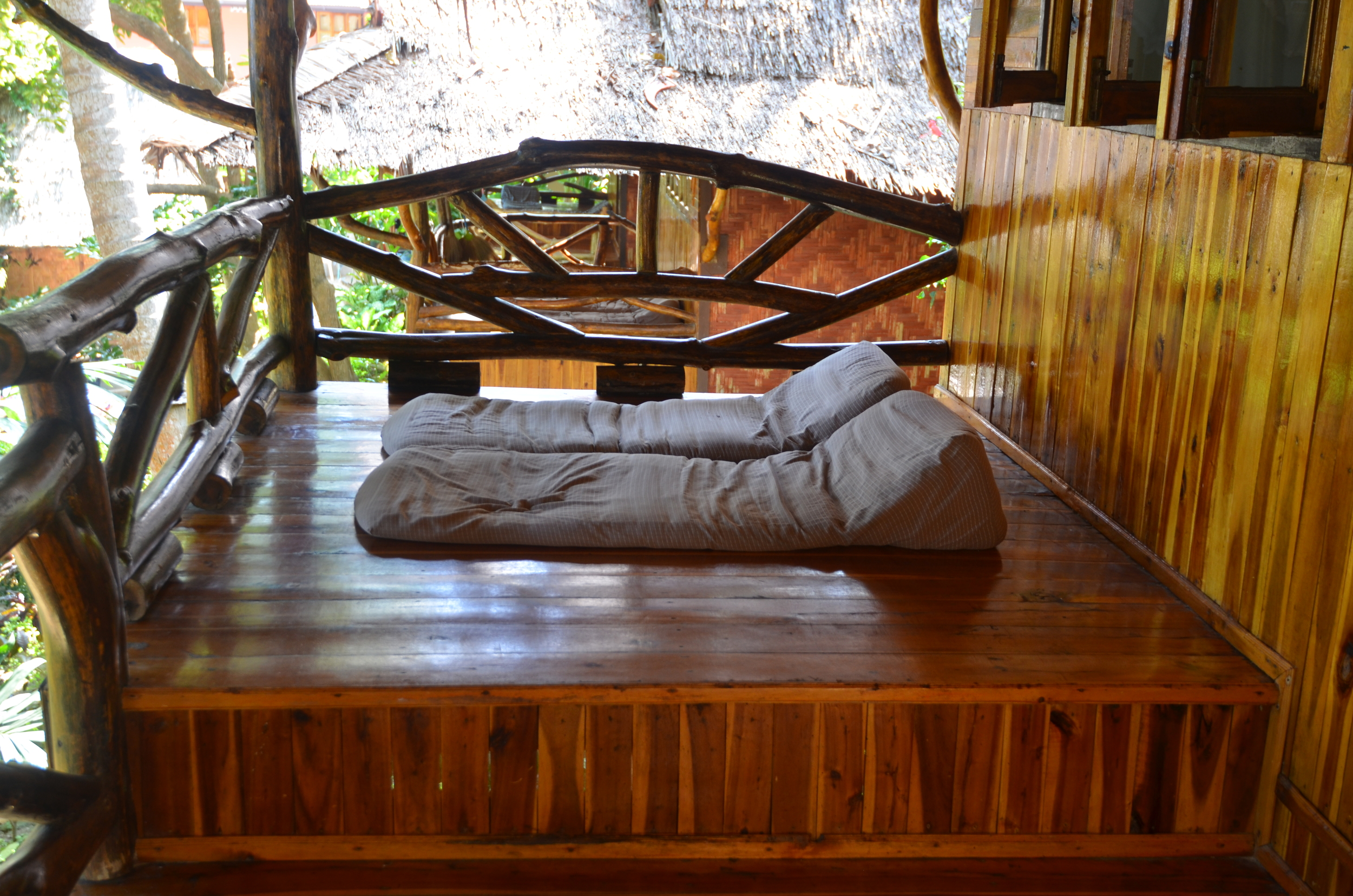 The porch of our bungalow... the perfect place to read